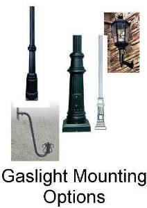 Gaslight Mounting Options